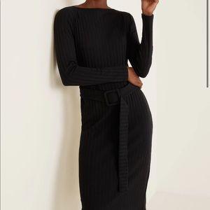 NWT Mango suit midi belted ribbed dress